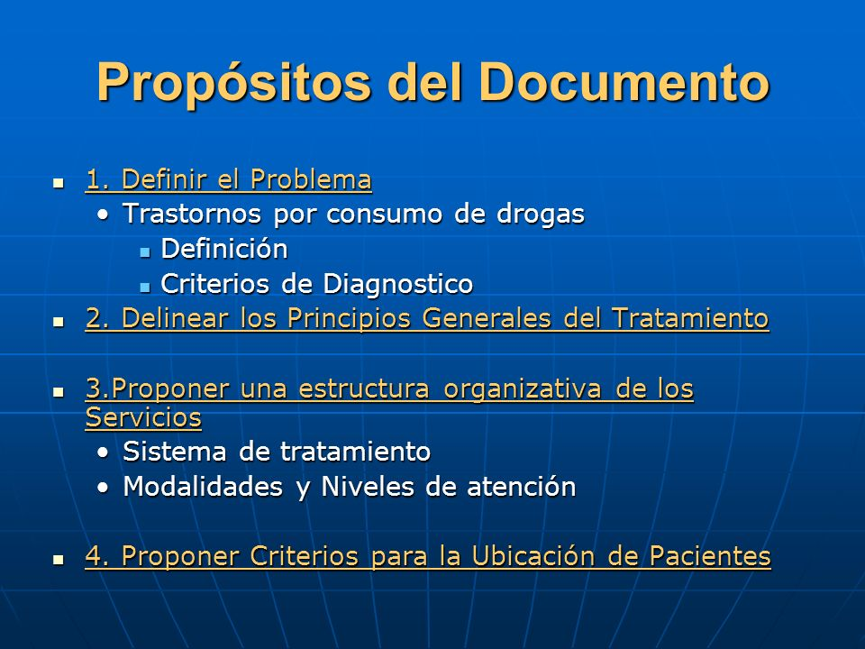 Propósitos del Documento