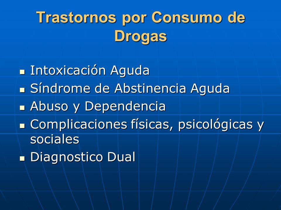 Trastornos por Consumo de Drogas