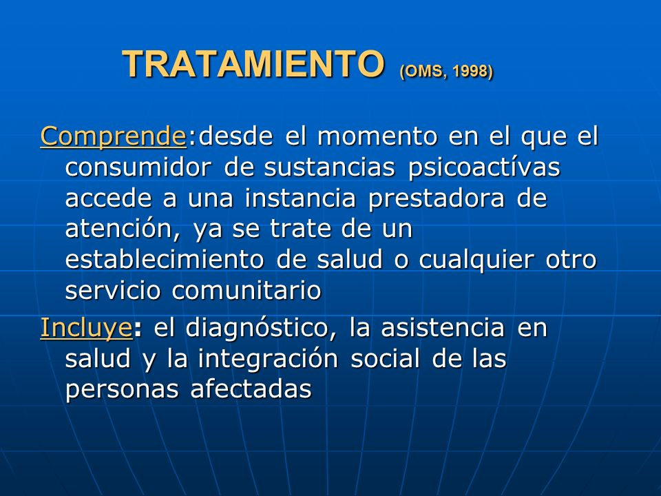 TRATAMIENTO (OMS, 1998)