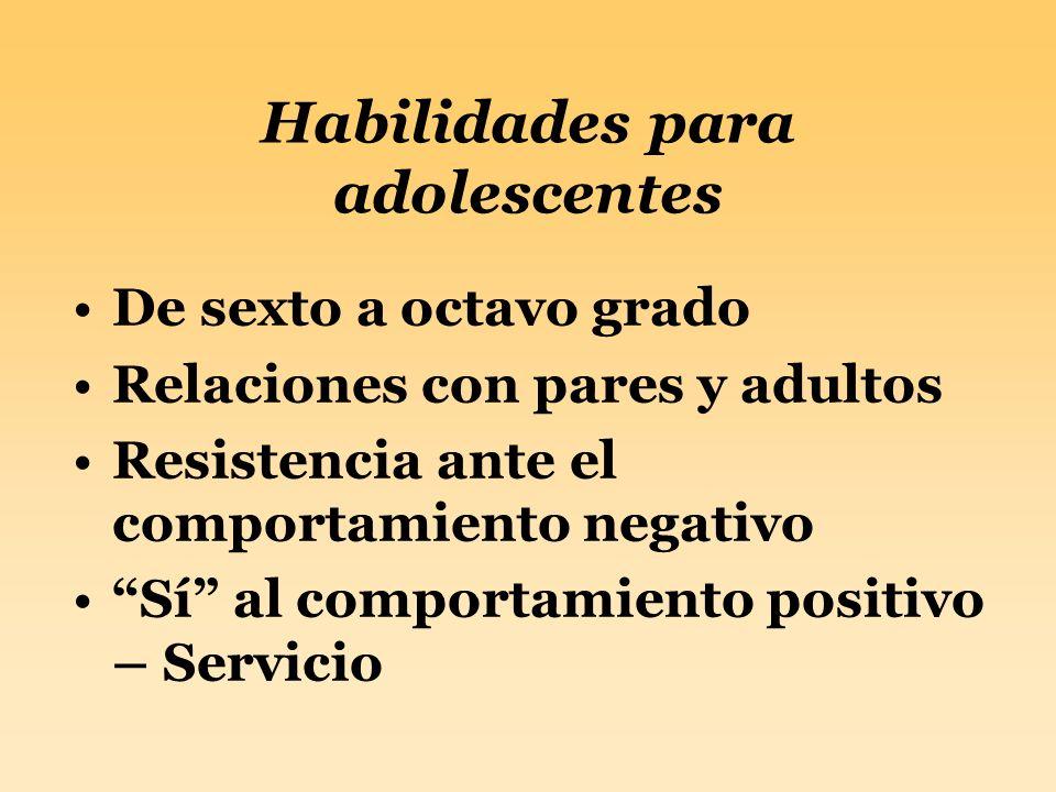 Habilidades para adolescentes
