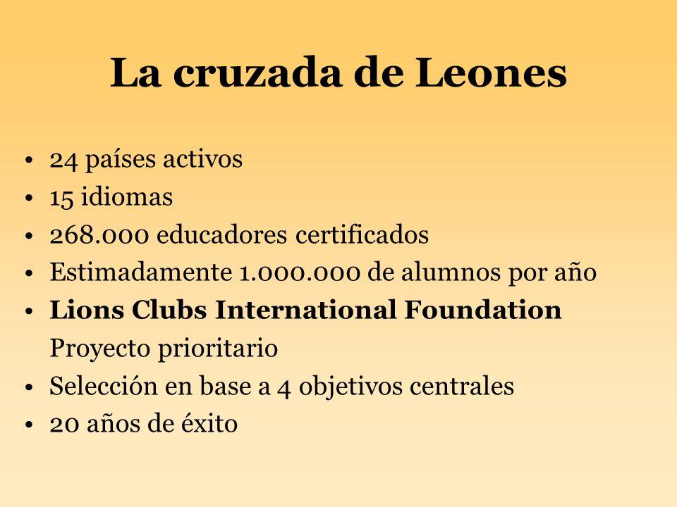 La cruzada de Leones 24 países activos 15 idiomas