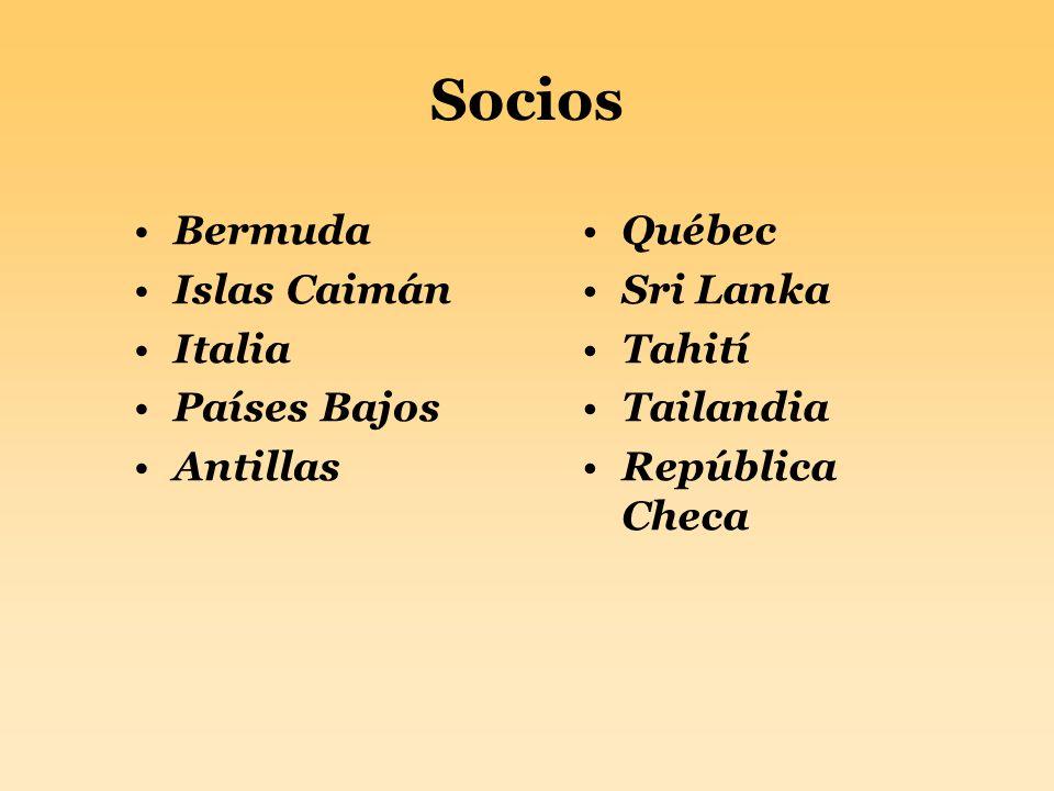 Socios Bermuda Islas Caimán Italia Países Bajos Antillas Québec