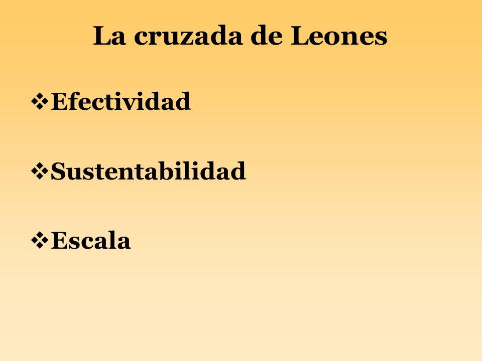 La cruzada de Leones Efectividad Sustentabilidad Escala
