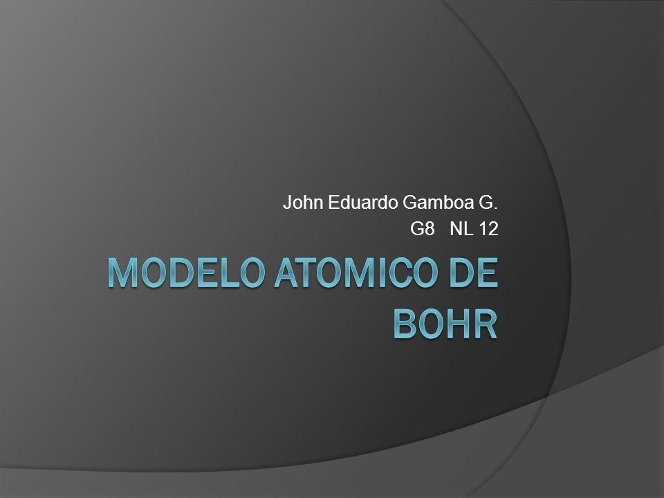 John Eduardo Gamboa G. G8 NL 12