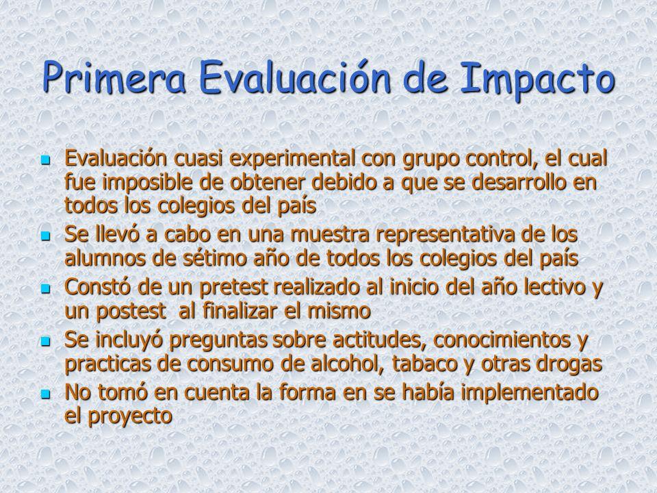 Primera Evaluación de Impacto