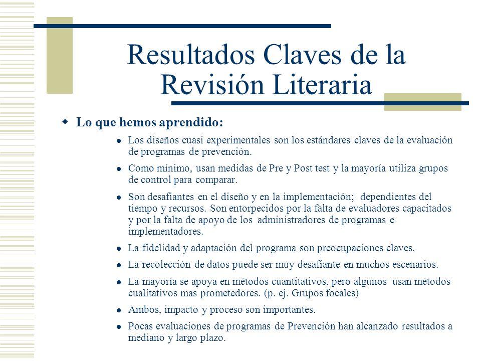 Resultados Claves de la Revisión Literaria