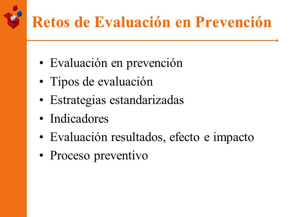 Retos de Evaluación en Prevención