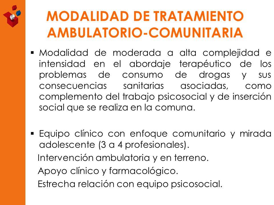 MODALIDAD DE TRATAMIENTO AMBULATORIO-COMUNITARIA