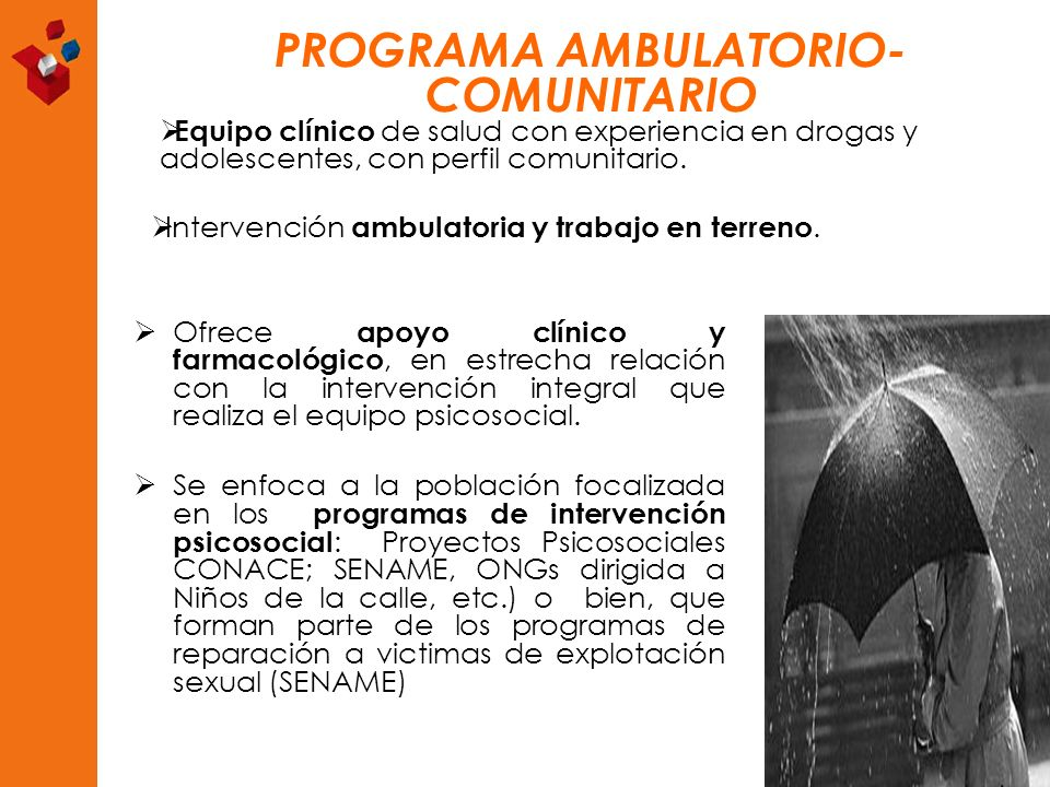 PROGRAMA AMBULATORIO-COMUNITARIO