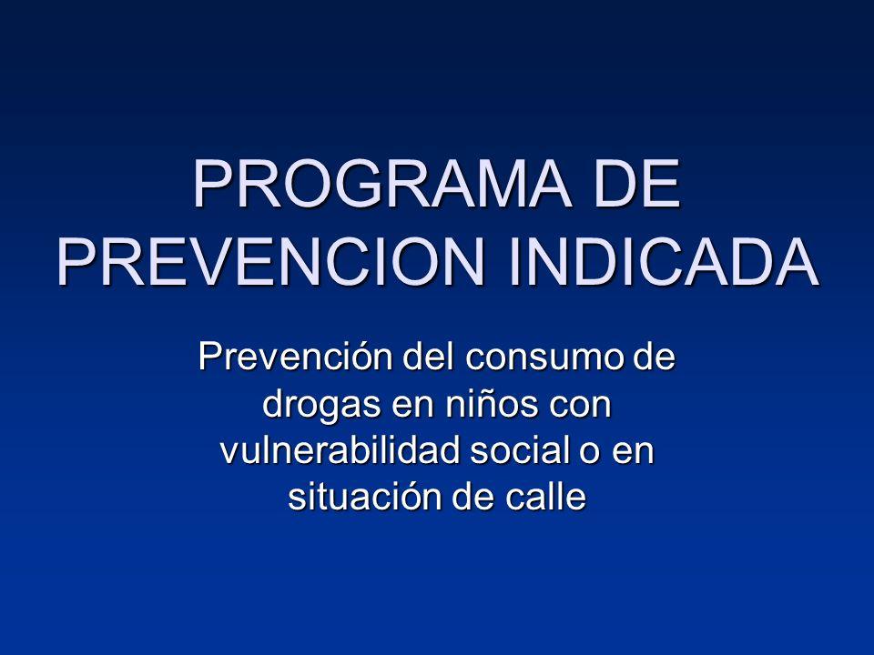 PROGRAMA DE PREVENCION INDICADA