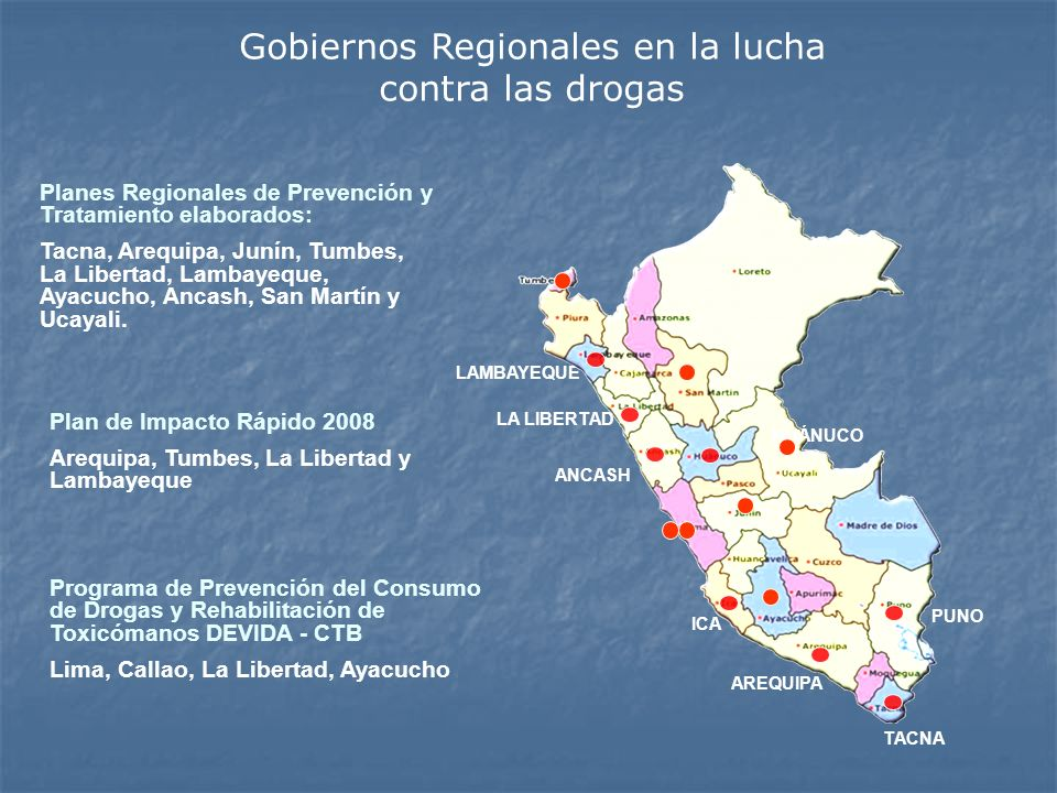 Gobiernos Regionales en la lucha contra las drogas