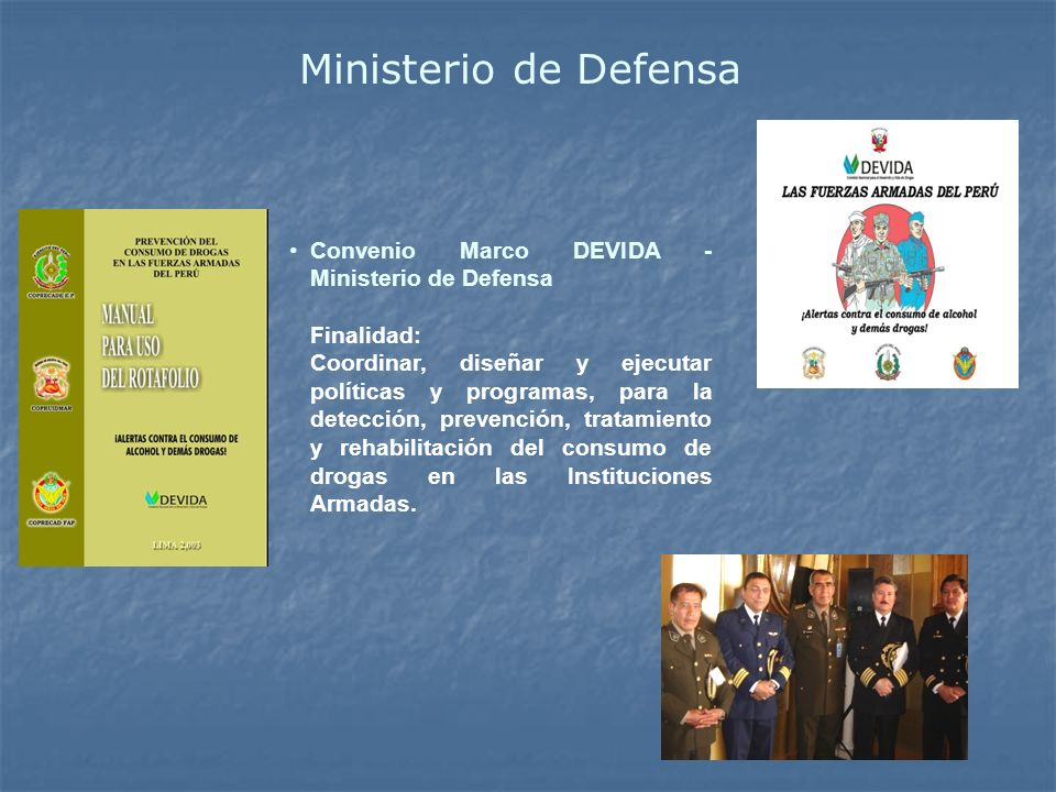 Ministerio de Defensa Convenio Marco DEVIDA - Ministerio de Defensa
