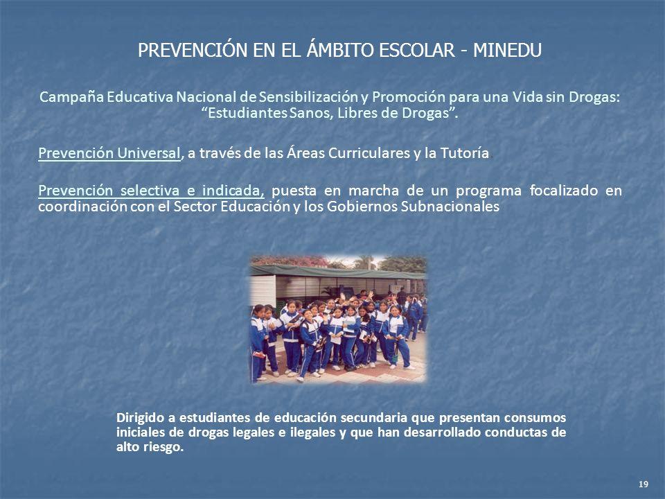PREVENCIÓN EN EL ÁMBITO ESCOLAR - MINEDU
