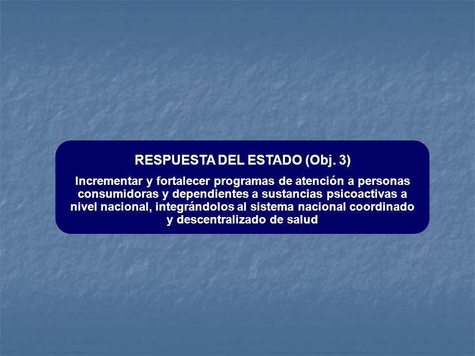 RESPUESTA DEL ESTADO (Obj. 3)