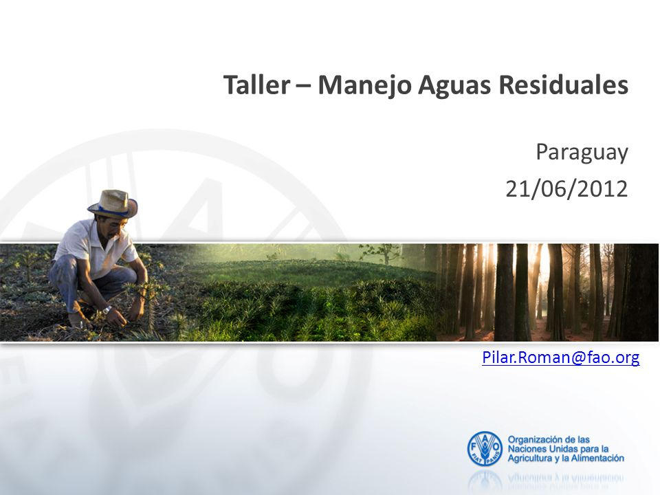 Taller – Manejo Aguas Residuales