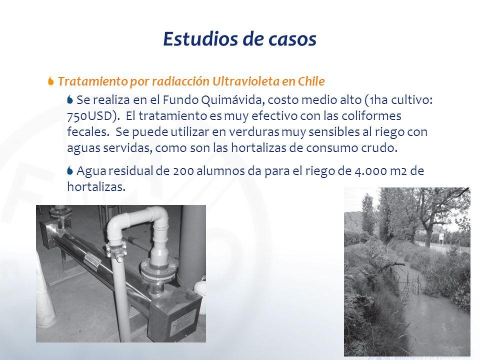 Estudios de casos Tratamiento por radiacción Ultravioleta en Chile