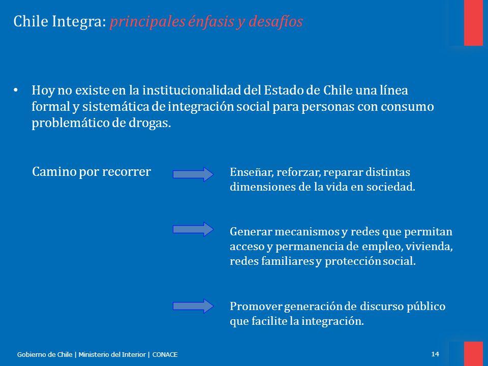 Chile Integra: principales énfasis y desafíos