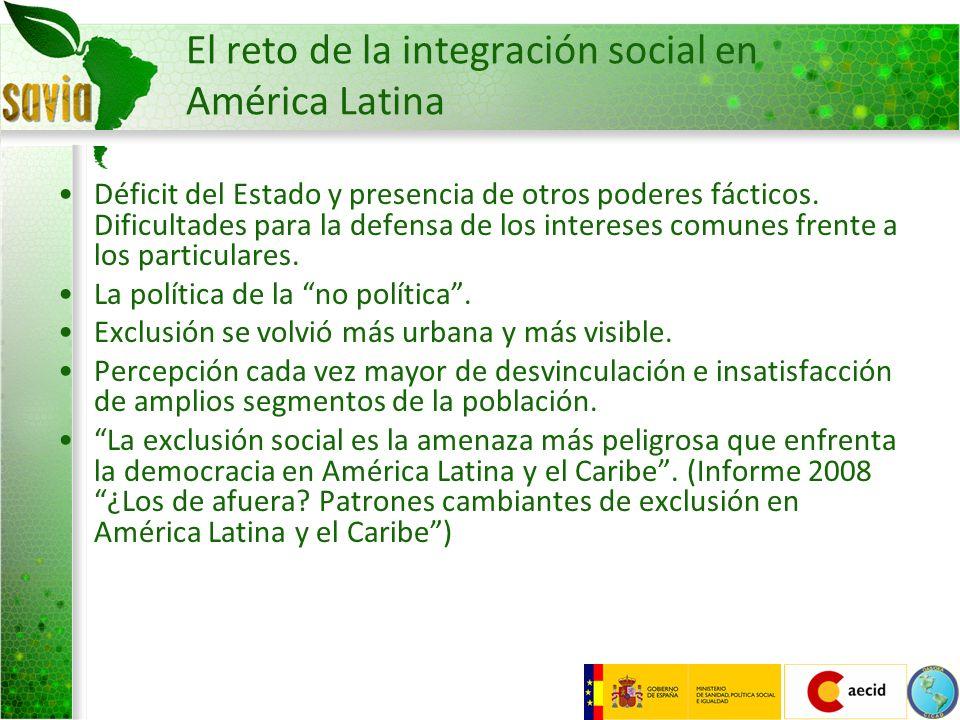El reto de la integración social en América Latina