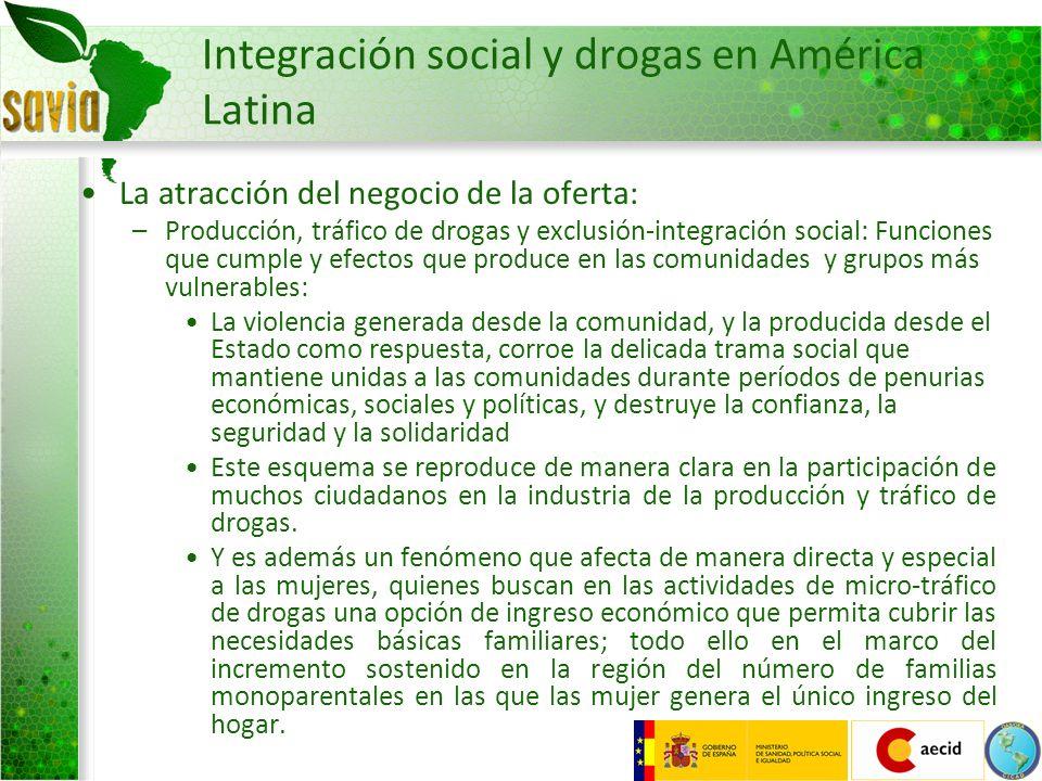 Integración social y drogas en América Latina
