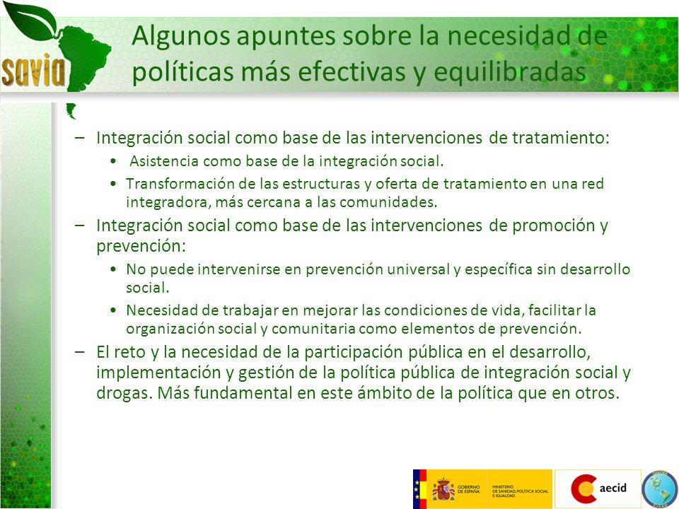 Algunos apuntes sobre la necesidad de políticas más efectivas y equilibradas