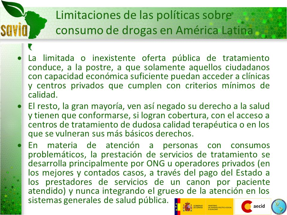 Limitaciones de las políticas sobre consumo de drogas en América Latina