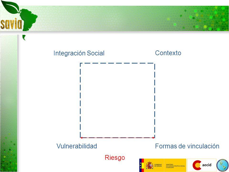 Integración Social Contexto Vulnerabilidad Formas de vinculación Riesgo