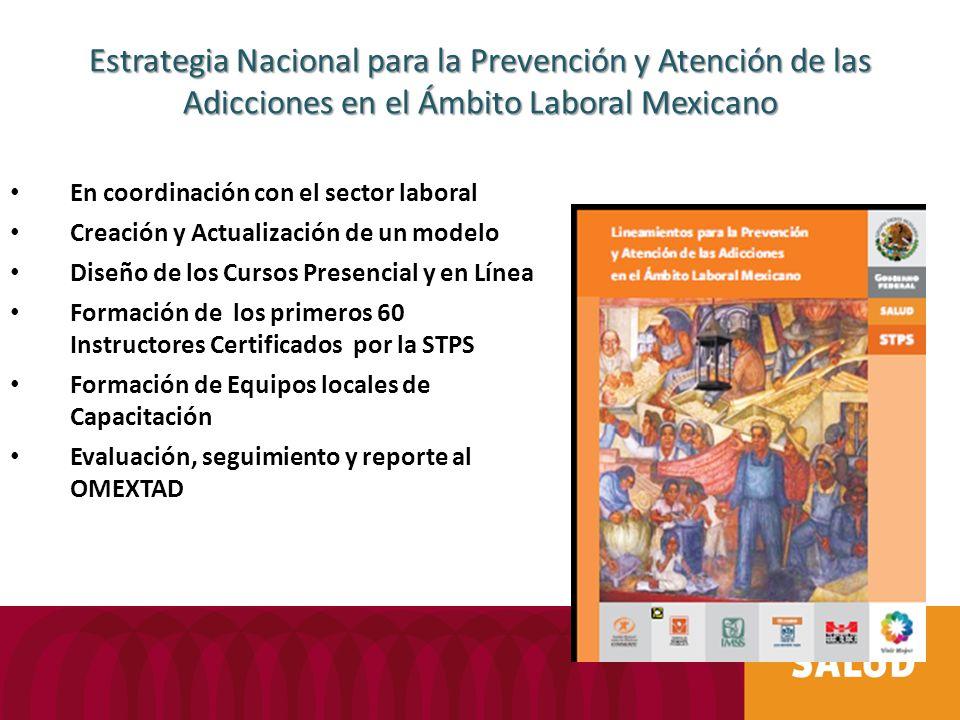 Estrategia Nacional para la Prevención y Atención de las Adicciones en el Ámbito Laboral Mexicano