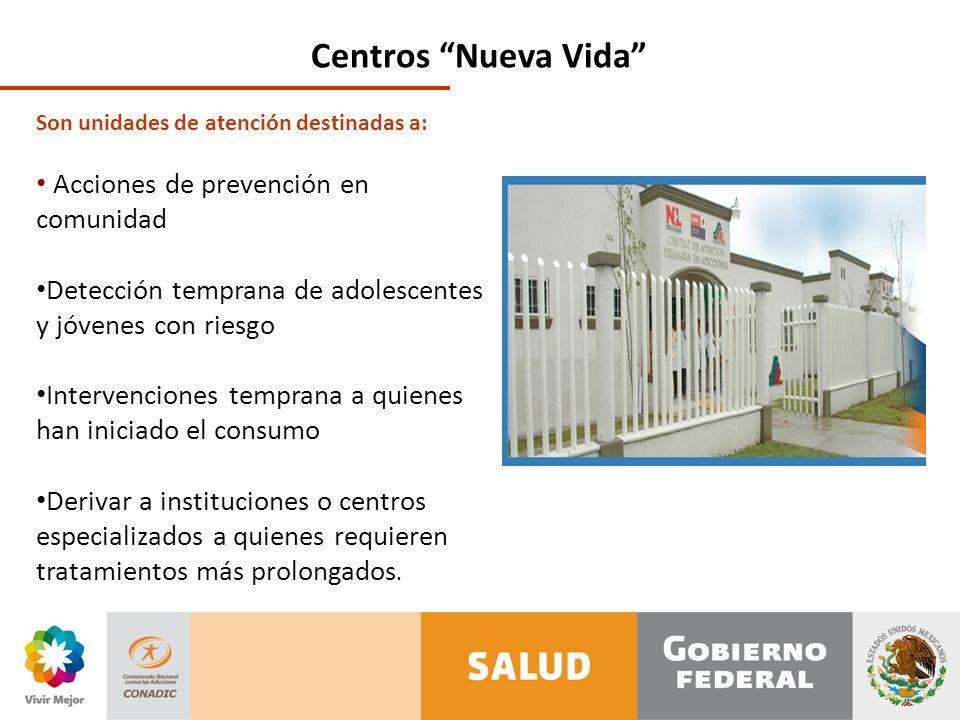 Centros Nueva Vida Acciones de prevención en comunidad