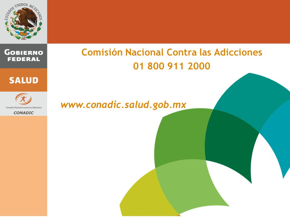 Comisión Nacional Contra las Adicciones 01 800 911 2000