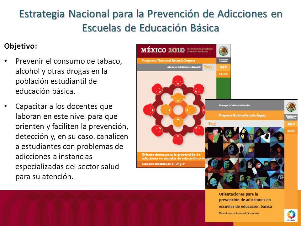 Estrategia Nacional para la Prevención de Adicciones en Escuelas de Educación Básica
