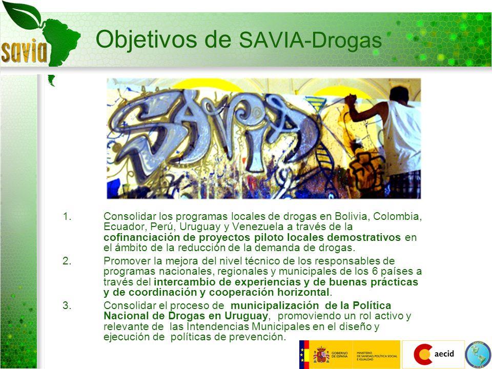 Objetivos de SAVIA-Drogas