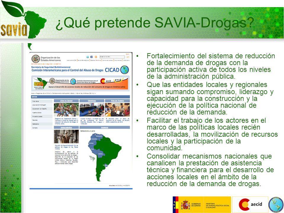 ¿Qué pretende SAVIA-Drogas