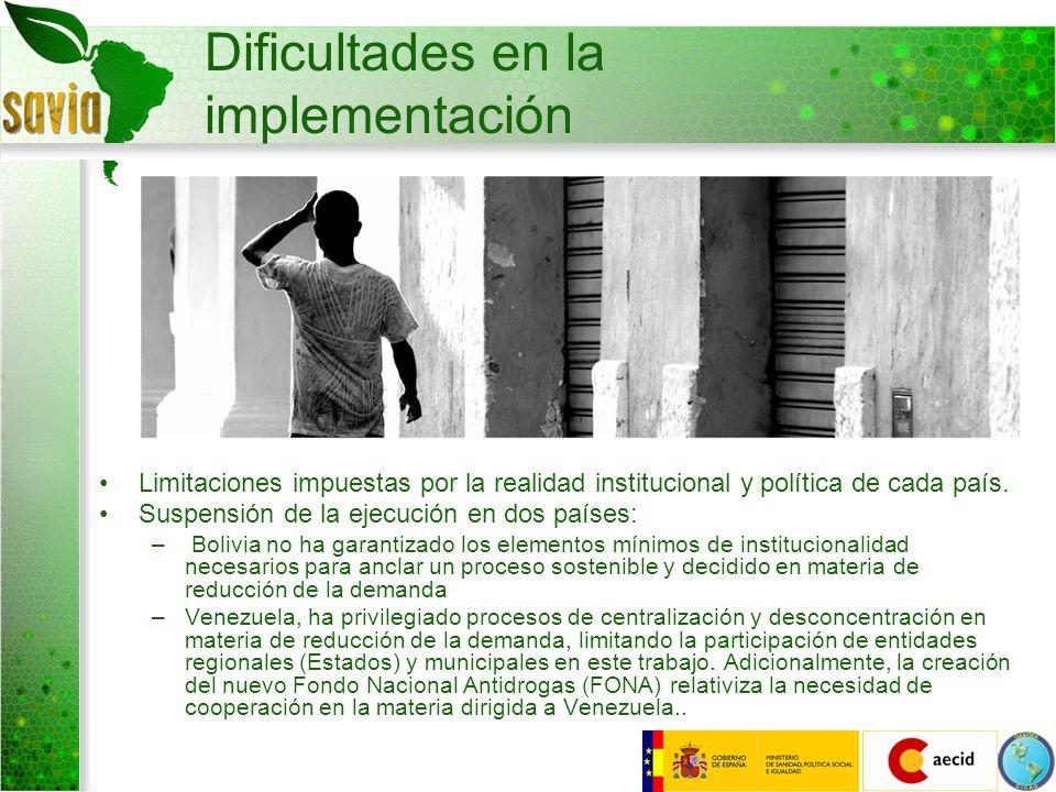 Dificultades en la implementación