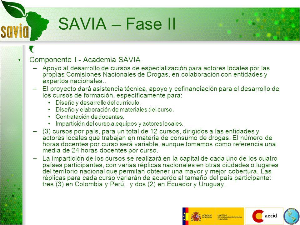 SAVIA – Fase II Componente I - Academia SAVIA
