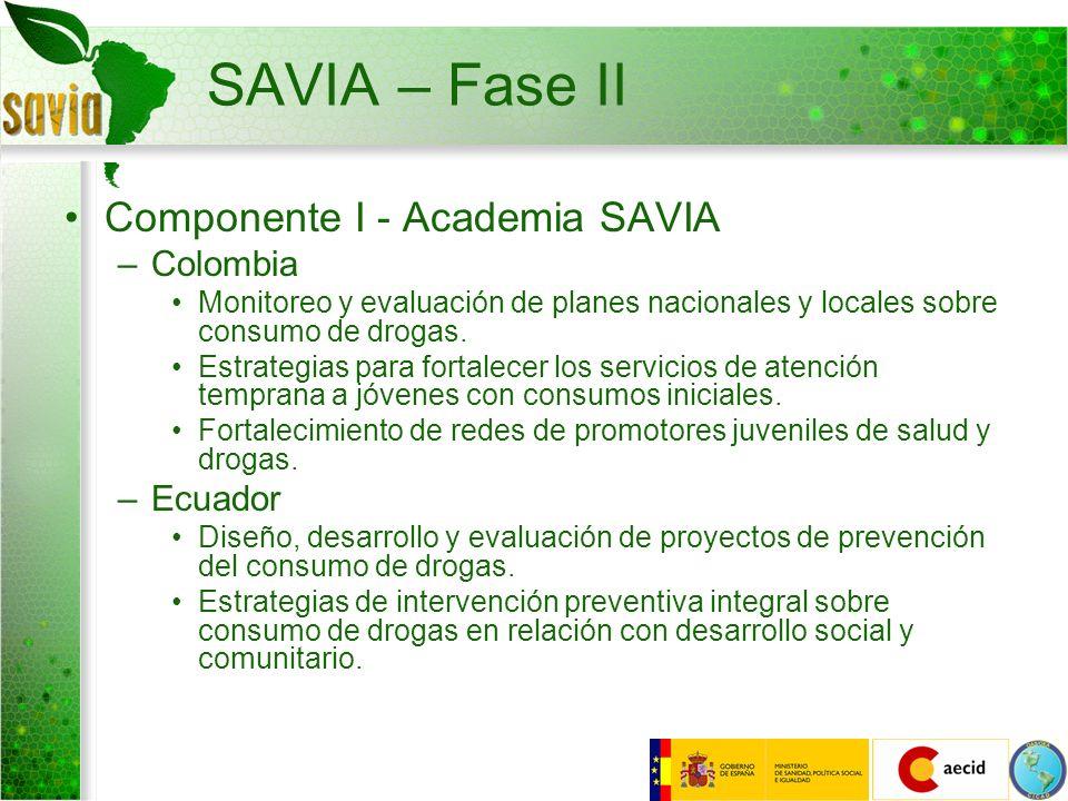 SAVIA – Fase II Componente I - Academia SAVIA Colombia Ecuador
