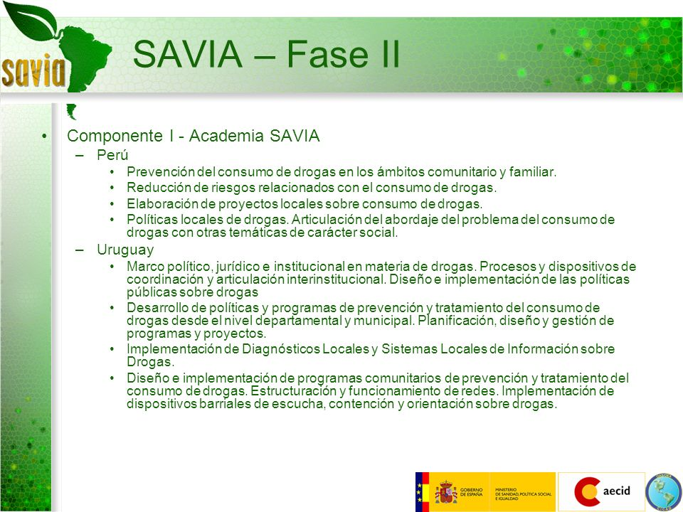 SAVIA – Fase II Componente I - Academia SAVIA Perú Uruguay