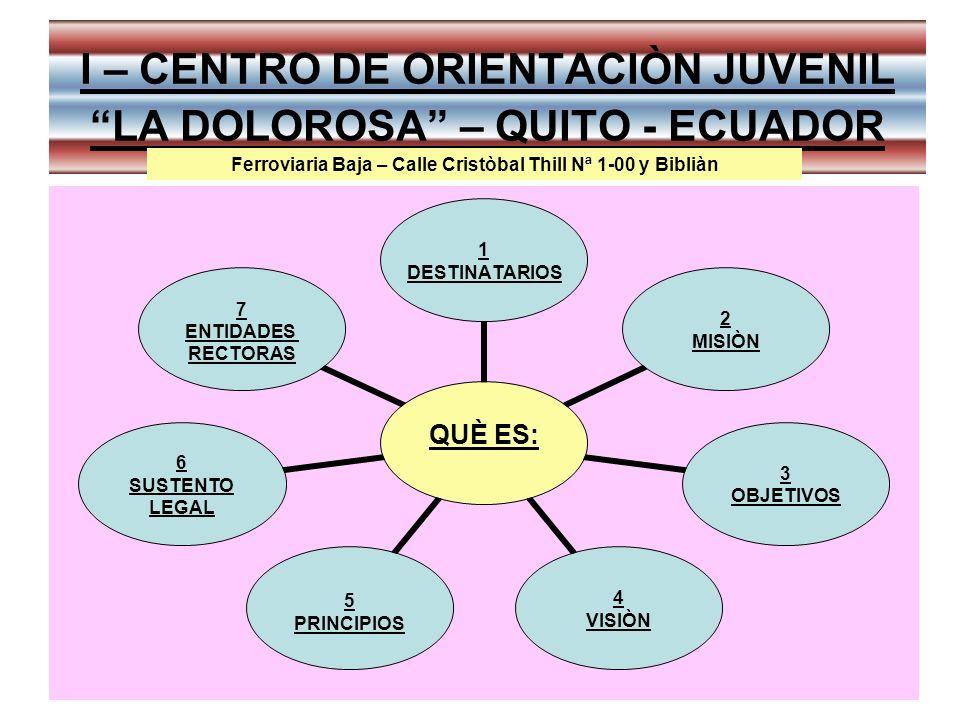 I – CENTRO DE ORIENTACIÒN JUVENIL LA DOLOROSA – QUITO - ECUADOR