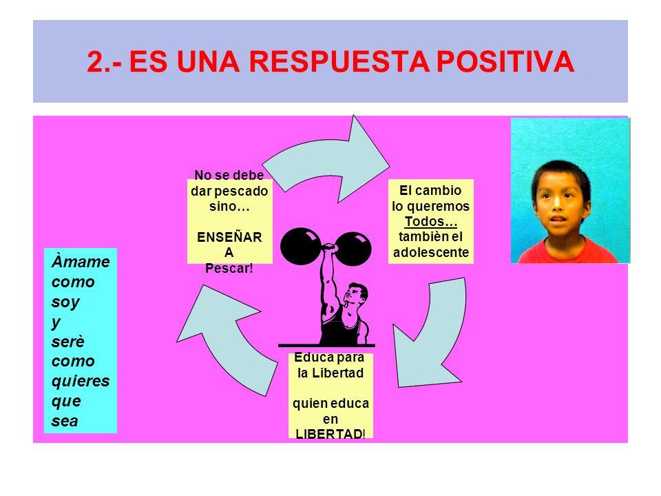 2.- ES UNA RESPUESTA POSITIVA