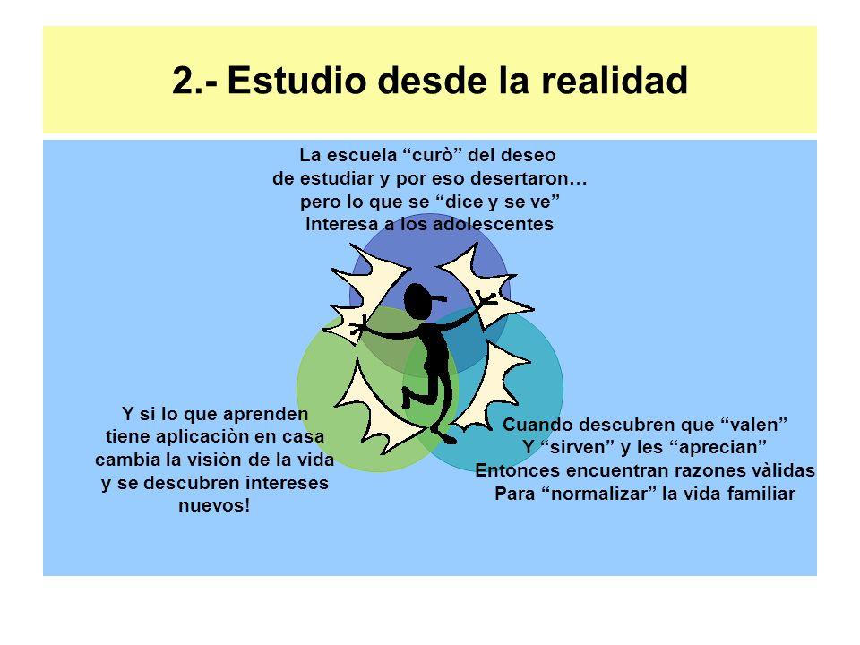 2.- Estudio desde la realidad
