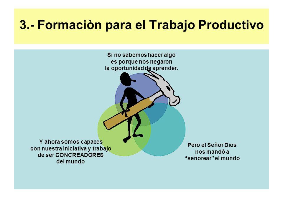 3.- Formaciòn para el Trabajo Productivo