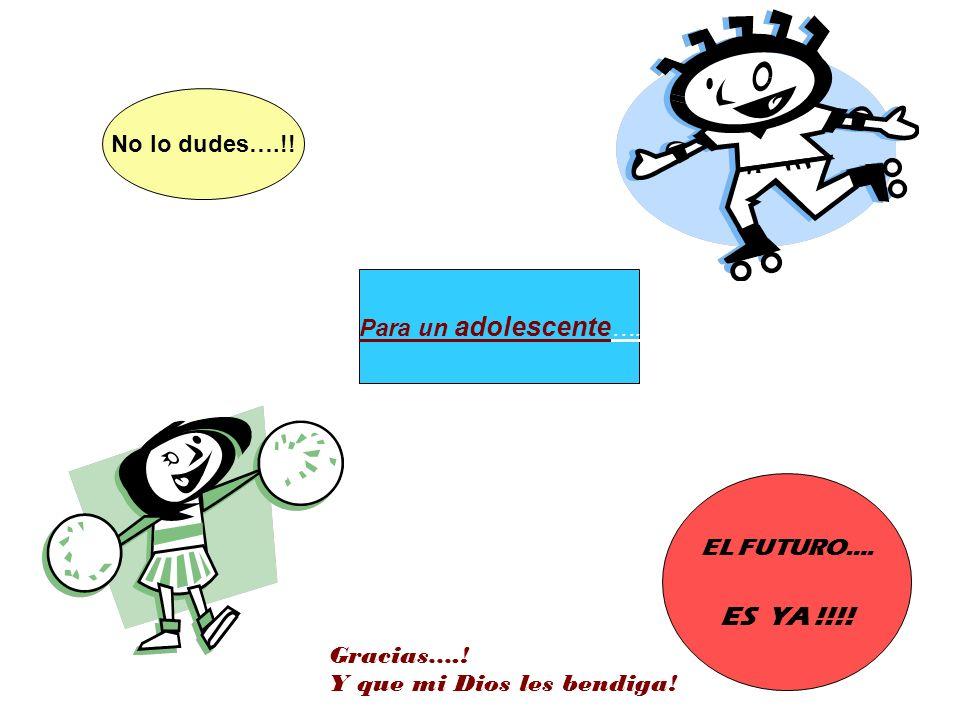 ES YA !!!! No lo dudes….!! Para un adolescente…. EL FUTURO….