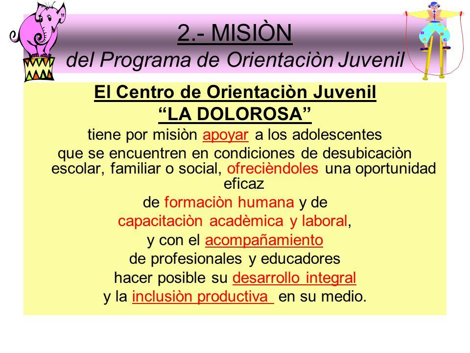 2.- MISIÒN del Programa de Orientaciòn Juvenil