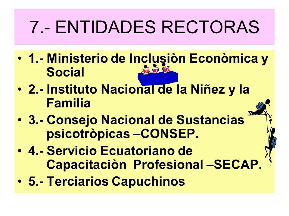7.- ENTIDADES RECTORAS 1.- Ministerio de Inclusiòn Econòmica y Social