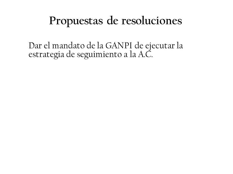 Propuestas de resoluciones