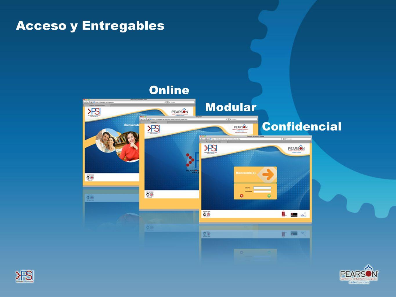 Acceso y Entregables Online Modular Confidencial