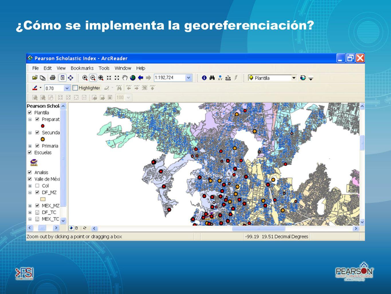 ¿Cómo se implementa la georeferenciación