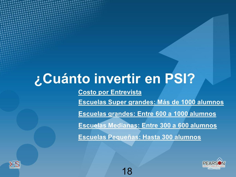¿Cuánto invertir en PSI