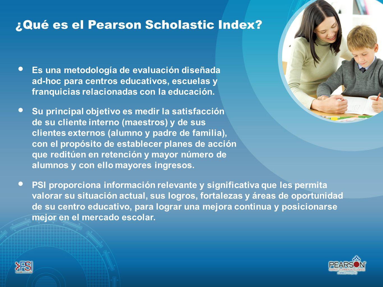 ¿Qué es el Pearson Scholastic Index