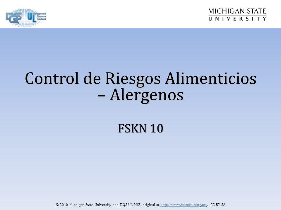 Control de Riesgos Alimenticios – Alergenos