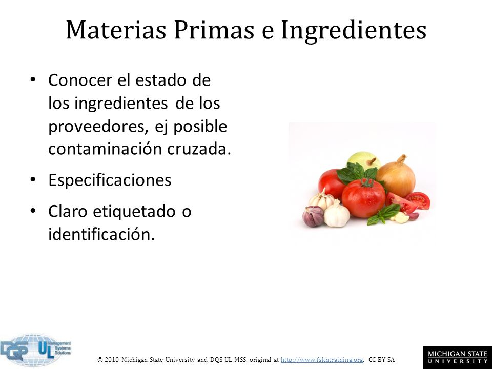 Materias Primas e Ingredientes